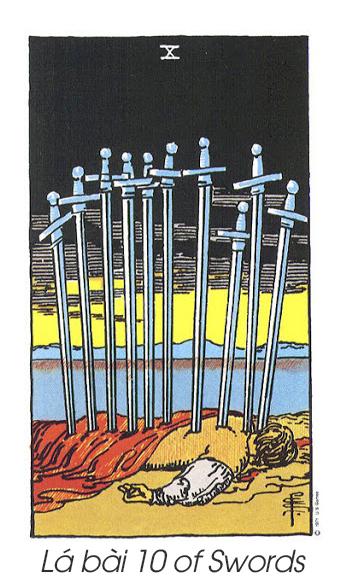 Lá bài 10 of Swords